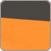 Hamak jednoosobowy H15, pomarańczowy