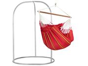 Zestaw hamakowy: leżak Currambera z metalowym stojakiem Romano