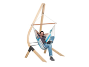 Zestaw hamakowy: Fotel hamakowy Caribena ze stojakiem drewnianym Vela