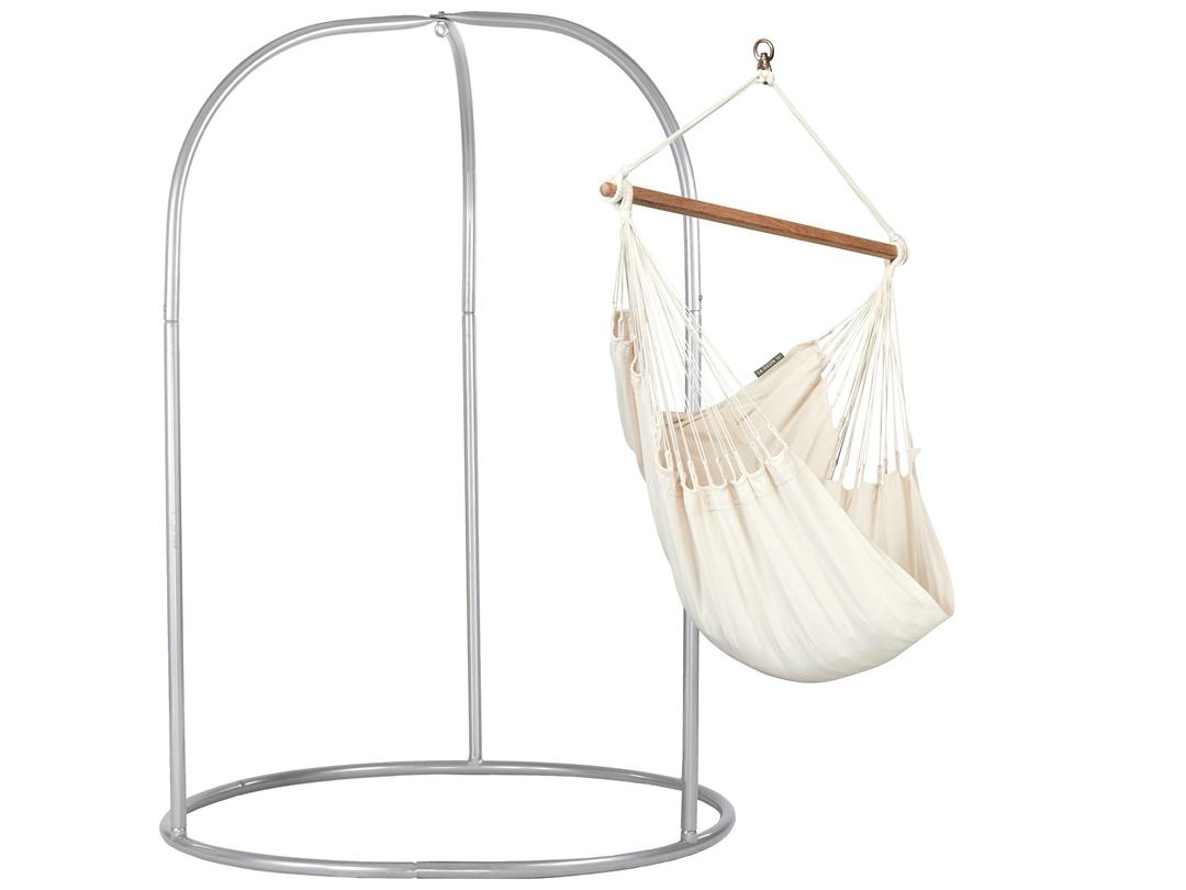Zestaw hamakowy: fotel hamakowy Modesta z metalowym stojakiem Romano
