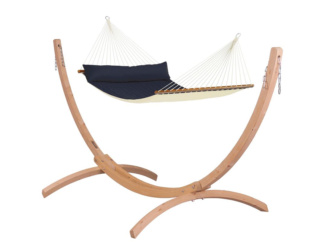 Zestaw hamakowy: hamak Alabama ze stojakiem drewnianym Canoa